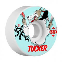 Bones 51mm Tucker Wolfpack STF The Bones Street Tech Formula STF take advantage of in house pouring and wizardlike chemists  The STF polyurethane is optimised for rebound and ease of slide  Re. Please Click the image for more information.