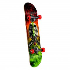 "Powell Peralta Skull and Sword 7.5"" Complete Skateboard The classic Ripper is back on these new Powell Complete skateboards  Weighing into the complete game with a topoftherange Powell Deck Skate One trucks and Powell Peralta Wheels  SOL. Please Click the image for more information."