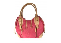 Hand Bag Pink Quality PU Bag Two outside front zips and rear zip Two pockets and a zip inside pocket Blue has silver fittings Pi. Please Click the image for more information.