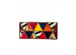 Patchwork Triangles Leather Wallet Patchwork Squares Flap leather wallet which folds open Great design and colourful Inside two windows and 10 card holders I. Please Click the image for more information.