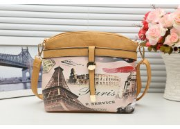 Shoulder Strap Paris Bag PU Quality PU Paris Bag with light gold fittings Coffee colour Please Click the image for more information.