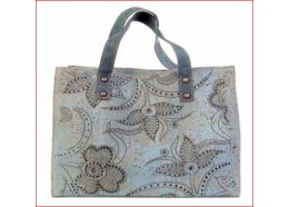 CORK HANDBAG WITH FLORAL MOTIF, LIGHT BLUE WITH DARK BLUE CORK HANDBAG WITH FLORAL MOTIF LIGHT BLUE WITH DARK BLUEDIM 345 x 245 x 13 cm  Please Click the image for more information.