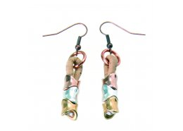 CORK LEATHER JEWELLERY BEIGE EARRINGS WITH TRICOLOR BEADS CORK LEATHER JEWELLERY BEIGE EARRINGS WITH TRICOLOR BEADSTamanho nico  One Size  Please Click the image for more information.
