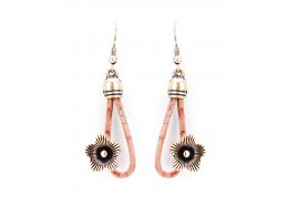 CORK LEATHER JEWELLERY BEIGE EARRINGS WITH FLOWERS OF OLD GOLD CORK LEATHER JEWELLERY BEIGE EARRINGS WITH FLOWERS OF OLD GOLDTamanho nico  One Size   Please Click the image for more information.