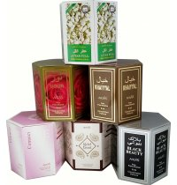 Ahsan Perfume Oils Ahsan perfume oils are concentrated non alcoholic roll on oils for use on skin as a perfume Ahsan perfume oils are sold in a wholesale box of 612 with each bottle containing 6  8ml perfume oil. Please Click the image for more information.
