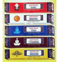 SPIRITUAL SERIES INCENSE Spiritual Series incense sticks are traditionally hand rolled This brand is sustainably manufactured to support the rural Indian economy without the use of child labour. Please Click the image for more information.