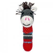 S11135 Mini Rattle Crocheted Donkey Baby Charms Brand SpiegelburgThis cute crocheted rattle is easy to grasp for the youngest Handmade from soft cottonbamboo yarn70 bamboo . Please Click the image for more information.