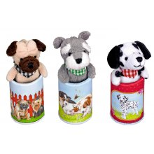 S11703 Plush Dog Pendant in Tin - Animal Parade Brand Spiegelburg Gorgeous little plush dog pendants in little metal tins Three different designs Dalmatian Pug and TerrierSize of ti. Please Click the image for more information.