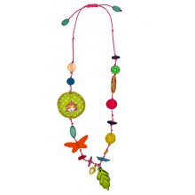 S11215 Necklace Pipa Lupina Brand SpiegelburgColourful necklace with adjustable fabric band Charms made from a variety of materials Lengt. Please Click the image for more information.