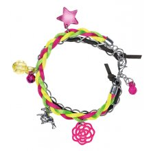 S11507 Bracelet Horse Friends Brand SpiegelburgTrendy bracelet for horse lovers Beautiful combination of suede look and braid in neon colours with charms Size . Please Click the image for more information.