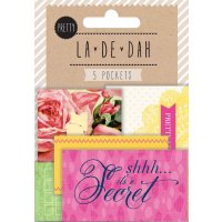 La De Dah Pockets Pretty 5 self adhesive mini pockets for tucking away secret treasures or precious bits and pieces  Pocket size 2 pockets x 7cm x 4cm 275 x 15. Please Click the image for more information.