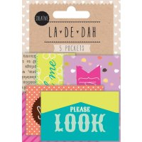 La De Dah Pockets Creative 5 self adhesive mini pockets for tucking away secret treasures or precious bits and pieces  Pocket size 2 pockets x 7cm x 4cm 275 x 15. Please Click the image for more information.