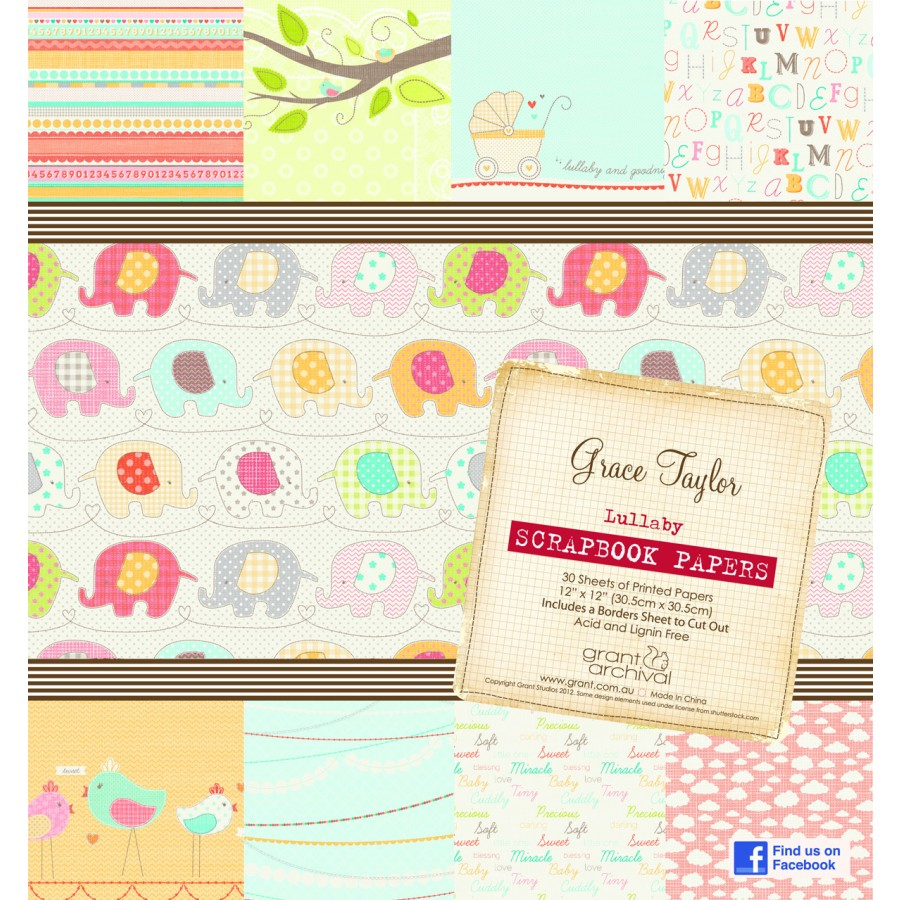 Scrapbook paper pads - Grace Taylor Lullaby Scrapbook Paper Pad The Grace Taylor Lullaby Scrapbook Paper Pad Contains 30