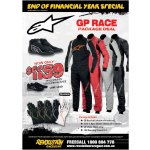 Alpinestars GP RACE Package Deal Package Includes        GP Race Suit choice of 4 colours        Tech1 Race Gloves choice of 5 colours         SP Shoes black only         100 Running shoes FOCOffer ends 31st J. Please Click the image for more information.