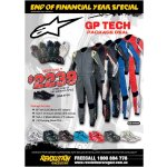Alpinestars GP TECH Package Deal Package includes          GP Tech suit choice of 5 colours          Tech 1ZX shoes          Tech 1Z shoes          100 Running Shoe FOCOffer ends 31s. Please Click the image for more information.