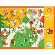 Giant Puzzle Flocky Square A 24 piece puzzle with a fantastic and fun design depicting a busy park Throughout the puzzle there are characters who have soft textured parts which give an extra dimension to the puzzle. Please Click the image for more information.