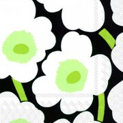 Marimekko Napkin Unikko Black  Create a vibrant table setting with Marimekkos Unikko napkinsPrinted with nontoxic waterbased colors on recycled tissue these 100 biodegradable napkins are a more ecofriendly way to enjoy the convenience of disposable napkins Comes in . Please Click the image for more information.