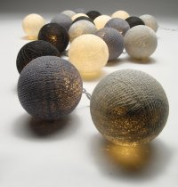 Grey Ball Fairy Lights The String lights are warm LED  providing a beautiful warmtone light and consuming very little power making them a great sustainable decoration and giftPerf. Please Click the image for more information.