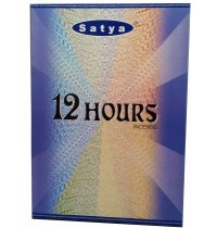 Satya 12 Hours Incense 20gms (B/12) Satya 12 Hours incense sticks burn for about an hour each but the fragrance remains long after the incense is extinguished and thus the name 12 hours. Please Click the image for more information.
