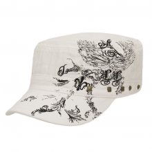 HB SL-039Wht Charlie Motif 1 Cadet Cap White Please Click the image for more information.
