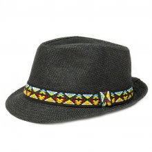 HB SL-041RaiBlk Kirsty Fedora Hat Rainbow Black  Please Click the image for more information.