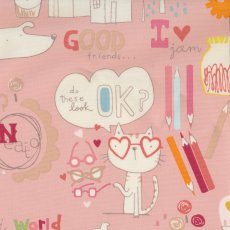 Alexander Henry Quite Delish Home Decor Pink Alexander Henry Quite Delish is an adorable childrens home dcor fabric design featuring fun drawings of animals apples pencils and alphabet letters  script This d. Please Click the image for more information.