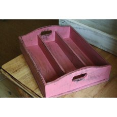 Pink 3 section tray  Please Click the image for more information.