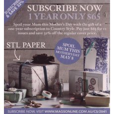 PR from magsonline Our music wrapping paper stars in this ad for subscriptions from Country Style Magazine Please Click the image for more information.
