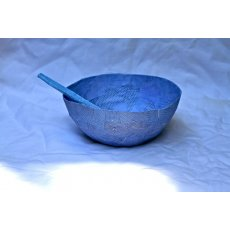Blue 'Envelope' Papier-Mache Bowl Gorgeous and delicate a fine hand made papiermache bowl with spoon crafted bySkye from the inside of business envelopes will be yours A delightful gift to receivetruly. Please Click the image for more information.