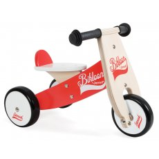 Janod Bikloon Red Trike large item  flat price $25 Set the wheels in motion and get rolling on the wooden Janod Red and White Trike Th. Please Click the image for more information.