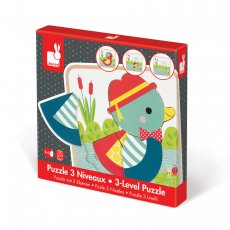 janod 3 layer duck puzzle Need something for the littlie who is just past the peg puzzle stage This is a jigsaw with a difference . Please Click the image for more information.