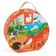 janod hat box forest puzzle Join the fox on a trek through the forest to meet all the other animals Made from sturdy card and presented in the Janod hatbox there are 24 jigsaw pieces to put together to find all of foxs friends including the tiny caterpillar Se. Please Click the image for more information.