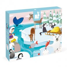 janod tactile ice puzzle Life on the ice can be pretty cool and that is exactly what this puzzle is 20 large jigsaw pieces that once put together depict an arctic scene but seven pieces hide a surprise Run your fingers over the animals bodies and feel their different fur scales and skin A tac. Please Click the image for more information.