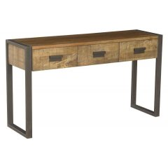 Urban Industrial Hardwood Timber & Metal Hall Table The Urban hall table with 3 drawers is a very trendy and contemporary design which doesnt compromise on quality It. Please Click the image for more information.