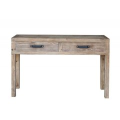 """""""Avalon"""" Reclaimed Timber 2 Drawer Hall Table 140cm The Avalon Hall table is made from reclaimed timber and has a lovely rustic look It is the perfect combination of style quality and excellent value for moneyAt Tigress Direct we offer amazing quality furniture at the fraction of retail prices Order DIRECT and save We offer a full 12 month Manuf. Please Click the image for more information."""