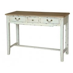 """""""Homestead"""" Desk Hall Table Console 3 Drawer  This beautiful Homestead Desk 3 drawer Console with its white distressed finish will add the perfect touch to your home  F. Please Click the image for more information."""