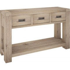 """""""Fraser"""" 3 Drawer Console Table Acacia Timber with Ash Finish This beautiful Fraser Acacia Timber 3 Drawer Console Table will add the perfect touch to your home F. Please Click the image for more information."""