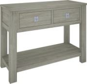 """""""Seaside"""" Mountain Ash Hardwood Timber Hall Table 2 Drawers & Shelf 110cm AN ITEM FROM THIS RANGE IS ON DISPLAY AT OUR CASTLE HILL SHOWROOMThe Seaside Timber Hall Table represents quality and durability The Seasi. Please Click the image for more information."""
