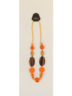 10790 ORANGE BEADED NECKLACE Please Click the image for more information.