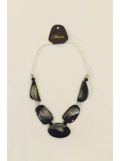 10791 BLACK WOODEN NECKLACE  Please Click the image for more information.