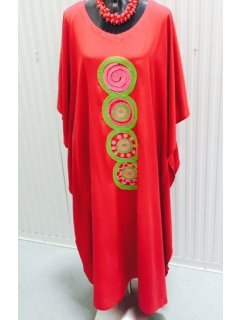 K061B RED RAYON KAFTAN WITH EMBROIDERED CENTRE PIECE PACK HAS 3 PCS OF SAME COLOUR IN IT FREESIZEALSO AVAILABLE IN BLUE ORANGE OR WHITE Please Click the image for more information.