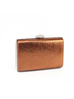 H0714B BRONZE SHIMMER EVENING BAG  DIAMONTE CLASP Please Click the image for more information.