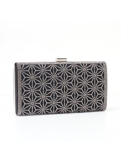H0717 BLACKSILVER CRYSTAL EVENING BAG Please Click the image for more information.