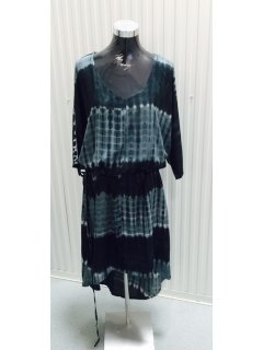 K067 BLACK TYE DYE DRESS  FREESIZE TO FIT 816  PACK OF 3 Please Click the image for more information.