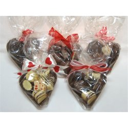 Totally choc hearts -hollow with 6 chocs Note Chocolate shop exclusive items are available for purchase instore only due to breakage risk andor other packaging issuesHollow chocolate halfheart 95mm in Dark or Milk chocolate  Packed with. Please Click the image for more information.