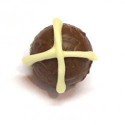 Easter Hot Cross Truffle: Milk - non-alcoholic Cinnamon nutmeg  cloves in a milk chocolate ganacheOrder by the piece pick up only Otherwise go to Pack Your Own Box. Please Click the image for more information.