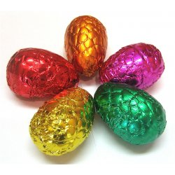 Easter egg Macadamia - Milk - foil wrapped Roasted macadmia nut gianduja firm but not hard or chewy texture no nut pieces in milk chocolate Foil. Please Click the image for more information.