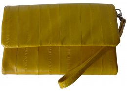 Eel Skin Wallet Yellow Eel skin wallet with a great design Very popular and available in many colours Lovely soft eel skin with many zip pockets and card holders Y. Please Click the image for more information.