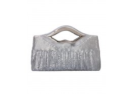 Evening Glow Mesh Bag Silver Quality Glow Mesh Bag with silver fittings Inside one zip pocket  Please Click the image for more information.