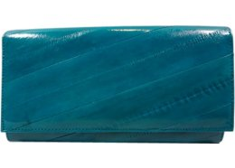 Eel Skin Wallet Turquoise Eel skin wallet with an internal centre zip compartment Soft colourful and a great design Black Please Click the image for more information.